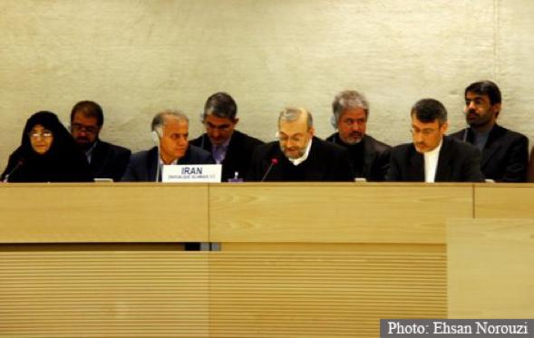 Mohammad javad Larijani, the Head of Iran's Human Rights Delegation in Geneva