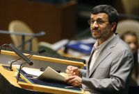 President Ahmadinejad at the review conference of the Nuclear Non-Proliferation Treaty in May 2010.  Credit:UN Photo/Eskinder Debebe