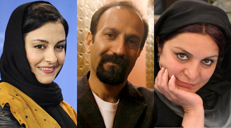 From left: Merila Zarei (Actress), Asghar Farhadi ('A Separation' Director) and Tahmineh Milani (Director). Credit:CC BY 2.0