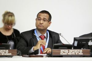 Ahmed Shaheed, UN Special Rapporteur on the Situation of Human Rights in the Islamic Republic of Iran. Credit:UN Photo/Rick Bajornas
