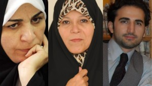 From left to right, Fakhressadat Mohtashamipour, Faezeh Hashemi and Iranian American Amir Hekmati were all sentenced within a week. Credit:Omid Memarian/open source